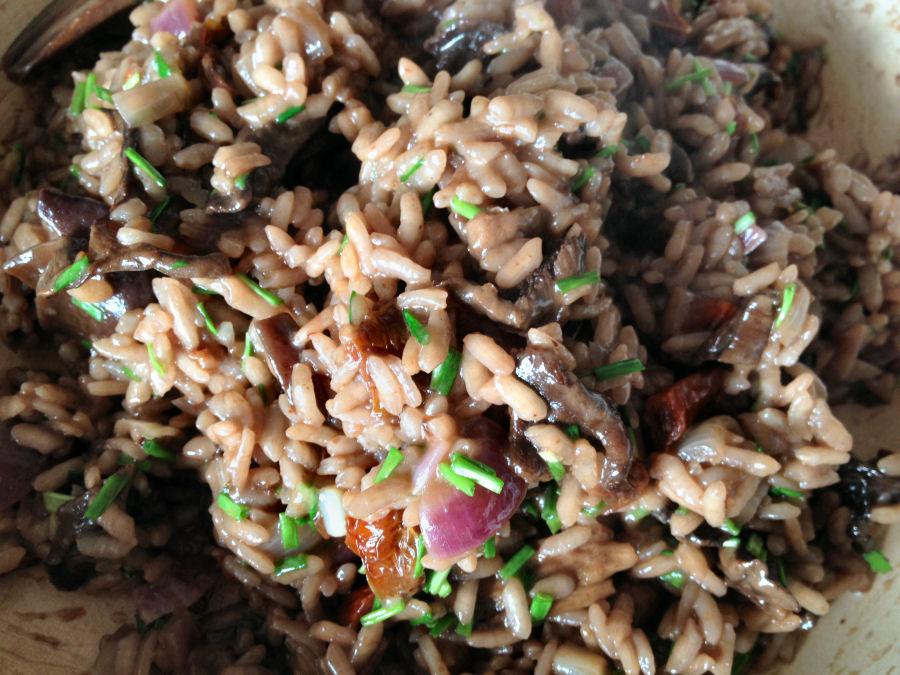 Bospaddenstoelen risotto