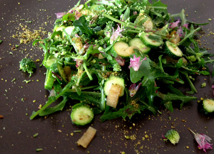 Rucola met babycourgette
